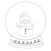 Snowman Winter Black And White Snow Globe