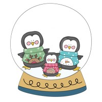 Penguin Family Snow Globe