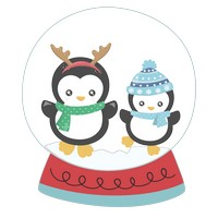 Penguins Snow Globe