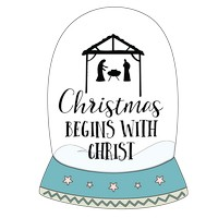 Quote Nativity Snow Globe