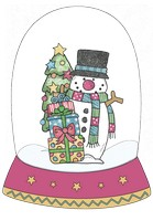 Snowman Happy Snow Globe