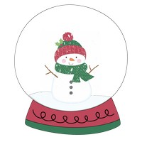 Snowman Winter Snow Globe