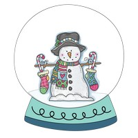 Stocking Snowman Snow Globe