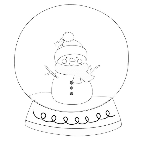 Snowmane Winter Black And White Snow Globe