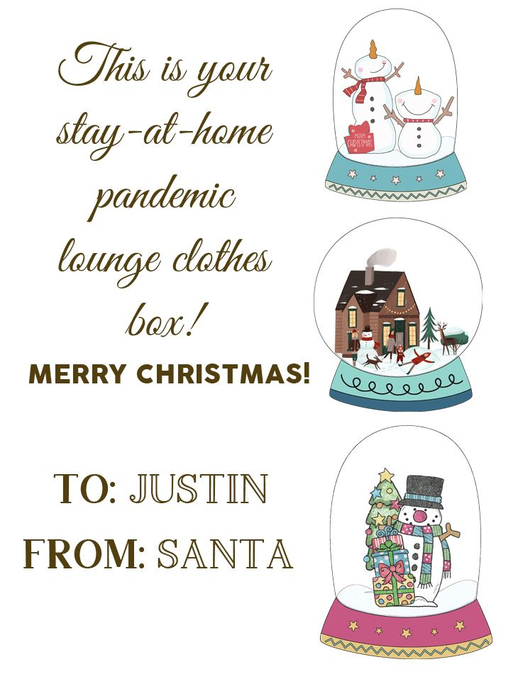 SAMPLE snow globes using as stationary and gift tag