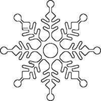 8-sided Snowflake Outline
