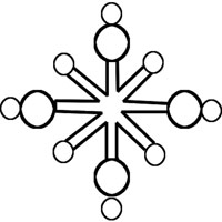 Crystal Snowflake Outline
