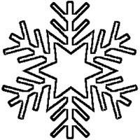 Starry Snowflake Outline