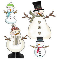 photo about Snowman Patterns Printable known as Snowman Crafts - Snowman Craft Layouts and Snowman Graphics
