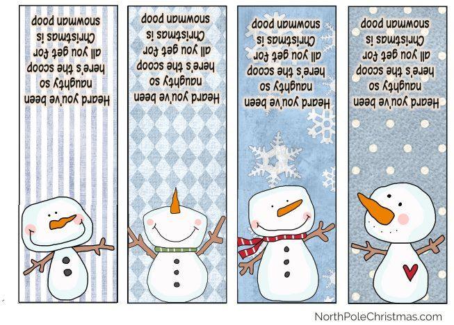 Snowman Poop Poem Printable Bag Toppers Tic Tacs Images