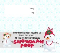 Snowman Poop Tag with To/From