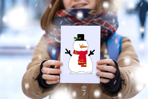 Snowman Template - 87 Free Snowman Outlines at NorthPoleChristmas.com
