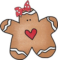 Gingerbread Girl Clipart