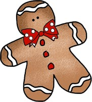 Gingerbread Man SVG File, Free Clipart