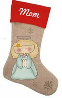 Angel Stocking Pattern with Graphics / Clip Art