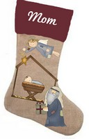 Baby Jesus Stocking Pattern with Graphics / Clip Art