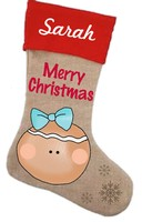 Gingerbread Stocking Pattern with Graphics / Clip Art