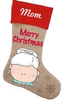 Mrs Clause Stocking Pattern with Graphics / Clip Art