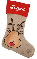 Reindeer Stocking Pattern with Graphics / Clip Art