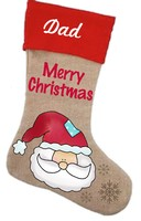 Santa Stocking Pattern with Graphics / Clip Art