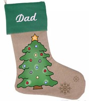 Tree Stocking Pattern with Graphics / Clip Art