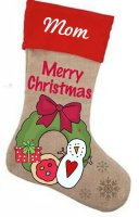 Wreath Stocking Pattern with Graphics / Clip Art