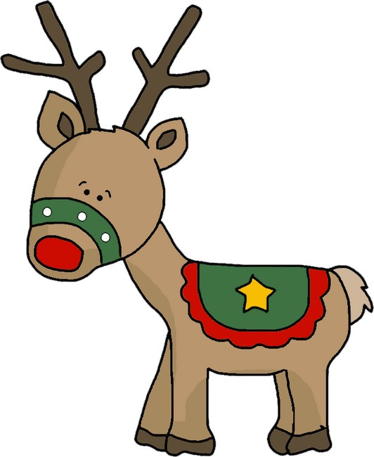 Christmas Reindeer Template - Reindeer Outlines, SVG, Clipart