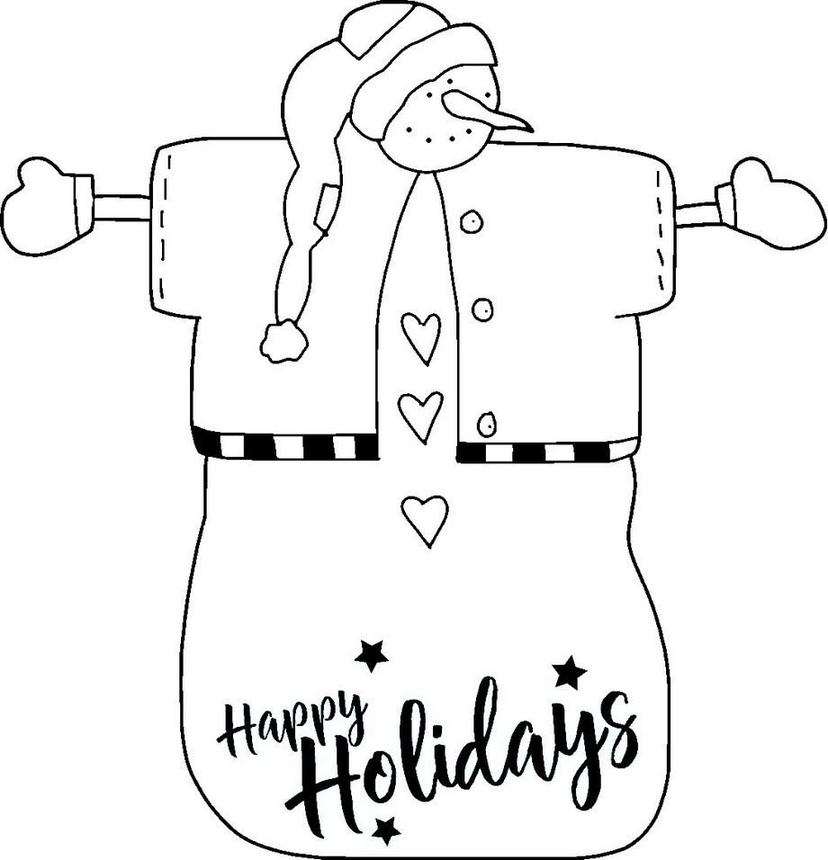 snowman clipart black white outline free download print christmas crafts printables patterns northpolechristmas com