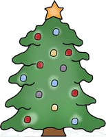 Christmas Tree Clipart, SVG, Line Art, Christmas Tree Coloring Page
