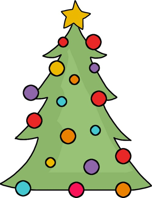 Clipart Christmas Tree – Adorable Tree Template: Free