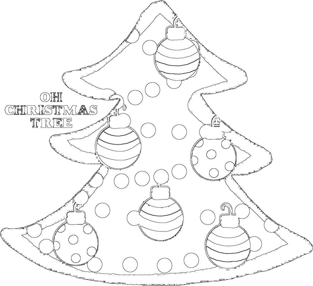 Christmas Tree Template Free Printable: Cutest Tree Outline