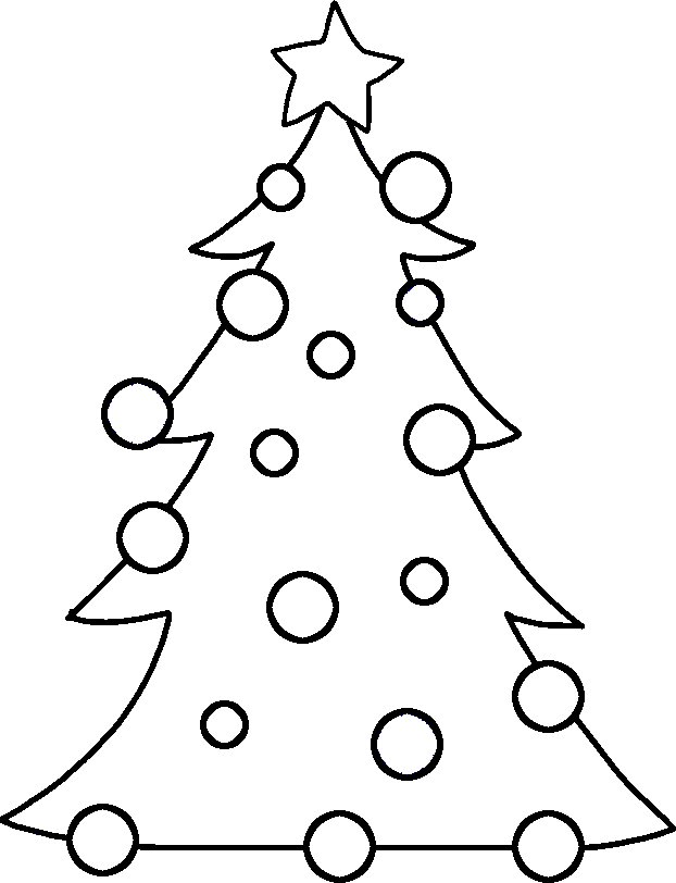 Christmas Tree Clipart Outline, Clip Art of Christmas Tree