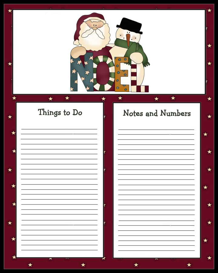To Do List to Print - Christmas