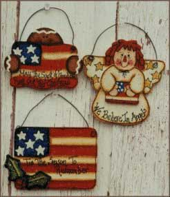 Tole painting - Patriotic Ornaments wood craft templates
